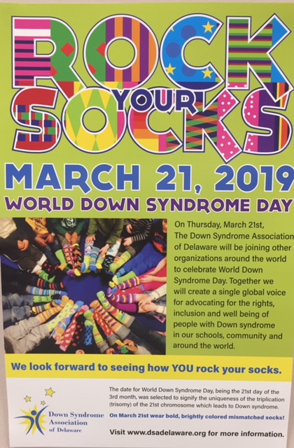 Harrison Township Students Rock their Socks for World Down Syndrome Day